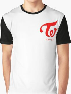 Twice Logo Red Graphic T-Shirt