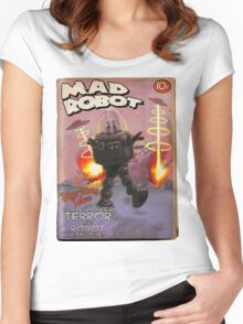 Mad Robot Fake Pulp Cover Women's Fitted Scoop T-Shirt