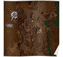Fallout New Vegas Map Poster