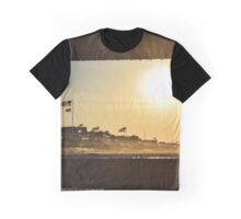 Summer Houses On Dune Road - View Through Lifeguard's Chair   Westhampton Beach, New York Graphic T-Shirt