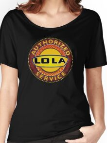 Vintage Lola Race Cars Authorized service sign Women's Relaxed Fit T-Shirt