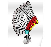 Indian Headdress Poster