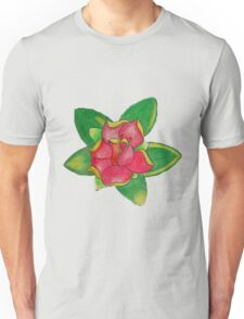 Modern rose in colored pencils Unisex T-Shirt