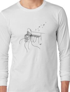 Octopus Playing a Piano Long Sleeve T-Shirt