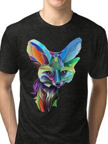 Kaleidoscope Fox; geometric poetry  Tri-blend T-Shirt