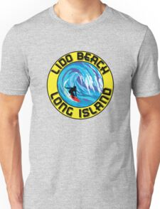 Surfing LIDO BEACH LONG ISLAND NEW YORK Surf Surfboard Waves Unisex T-Shirt