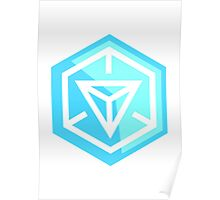 Ingress Game Logo - Blue (Resistance) Poster