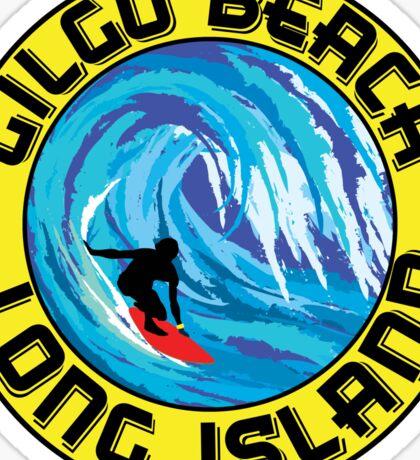 Surfing GILGO BEACH LONG ISLAND NEW YORK Surf Surfboard Waves Sticker