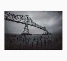 The Astoria–Megler Bridge, Astoria, Oregon.  In Black and White Kids Clothes