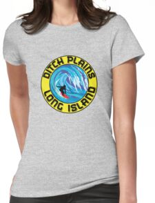 Surfing DITCH PLAINS LONG ISLAND NEW YORK Surf Surfboard Waves Womens Fitted T-Shirt