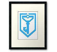 Ingress Resistance Logo - Blue Framed Print