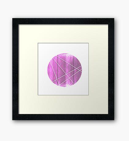Pink Textured Abstract Circle Framed Print