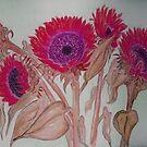 Cherry Sunflowers  by Anne Gitto