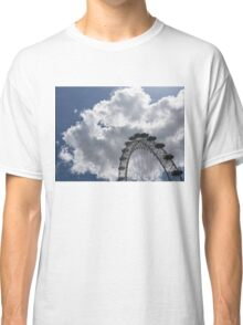 Silver, Blue and White - the London Eye Against Dramatic Sky Classic T-Shirt