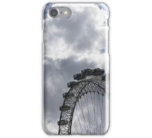 Silver, Blue and White - the London Eye Against Dramatic Sky iPhone Case/Skin