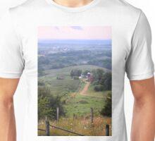 Valley Farm Portrait Unisex T-Shirt