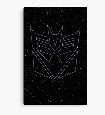 Stars Transformers Decepticon Canvas Print