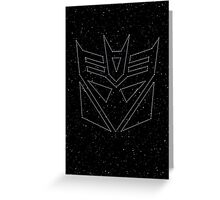 Stars Transformers Decepticon Greeting Card
