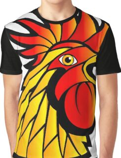 Rooster Head Graphic T-Shirt