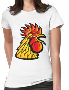 Rooster Head Womens Fitted T-Shirt