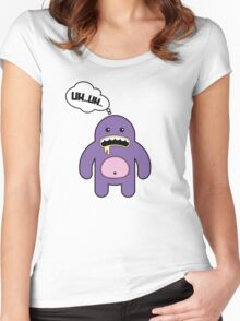 Cartoon monsters in a flat style. UH...UH... Women's Fitted Scoop T-Shirt