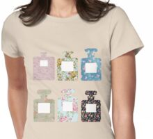 Floral bottles Womens Fitted T-Shirt