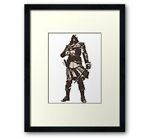 Minimalist Edward Kenway from Assasins Creed 4: Black Flag Framed Print