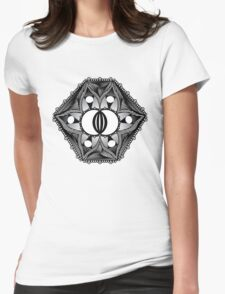 Flower Patch Womens Fitted T-Shirt