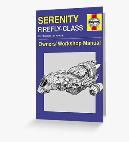 Serenity - Owners' Manual Greeting Card
