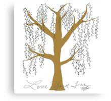 Weeping Willow in color Canvas Print