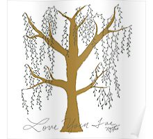 Weeping Willow in color Poster