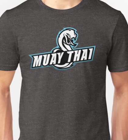 muay thai viper badge logo thailand snake fighter Unisex T-Shirt
