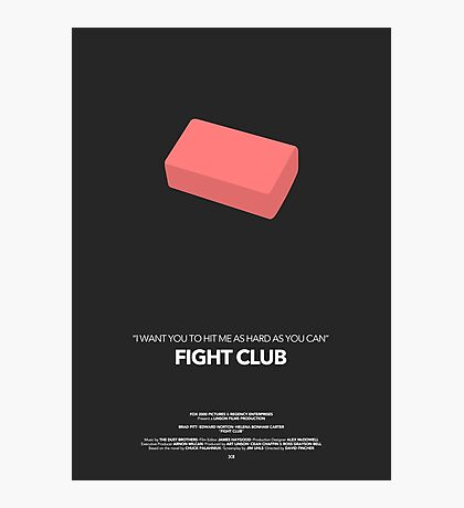 Fight Club Movie Poster Photographic Print