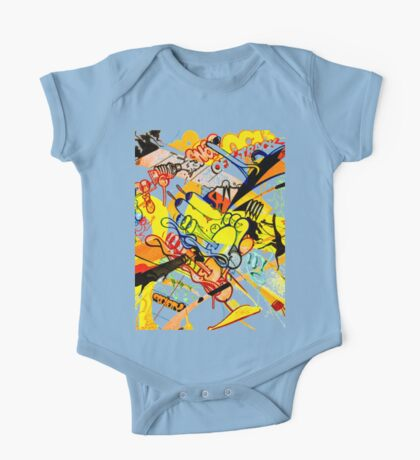 Gravity Painting One Piece - Short Sleeve
