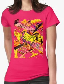 Gravity Painting Womens Fitted T-Shirt