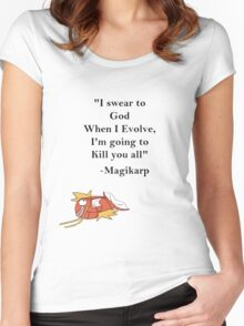 Magikarp Quote Women's Fitted Scoop T-Shirt
