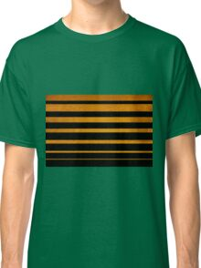 Gold diagonal light rays, seamless pattern Classic T-Shirt