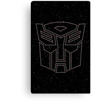 Stars Transformers Autobots Canvas Print