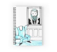 Portrait of Blue Beard Spiral Notebook