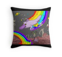 The Cosmic Uddered Platypus Throw Pillow