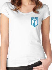 Ingress Resistance Logo over left Breast - Blue Women's Fitted Scoop T-Shirt