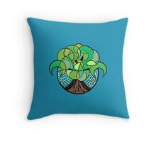 Tree Splash Throw Pillow