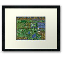 Zelda Map Framed Print