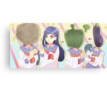 Tsubomi And The Vegetables Girls Canvas Print