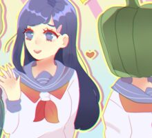 Tsubomi And The Vegetables Girls Sticker