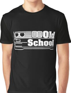 E30 Old School - White Graphic T-Shirt