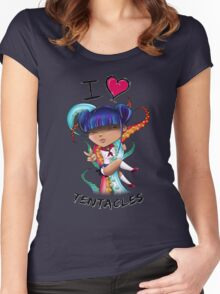 I Heart Tentacles Women's Fitted Scoop T-Shirt