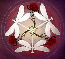 Dragonfly Kiss Mandala by Marg Thomson by fullcirclemandalas  is Marg Thomson