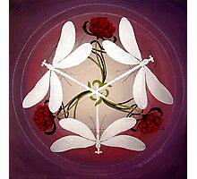Dragonfly Kiss Mandala by Marg Thomson Photographic Print