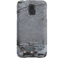 Montreal streest after a snowstorm Samsung Galaxy Case/Skin